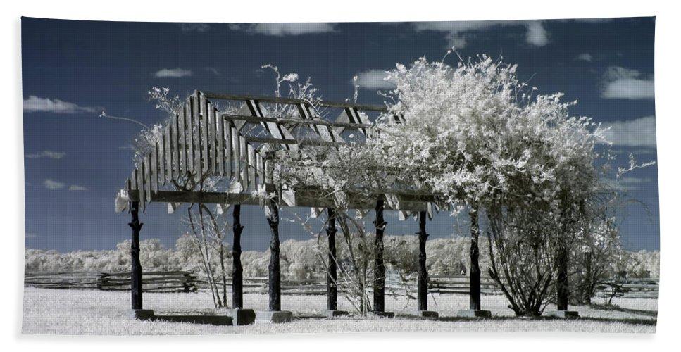 Arbor Beach Towel featuring the photograph Arbor In Petersburg National Battlefield by Liza Eckardt