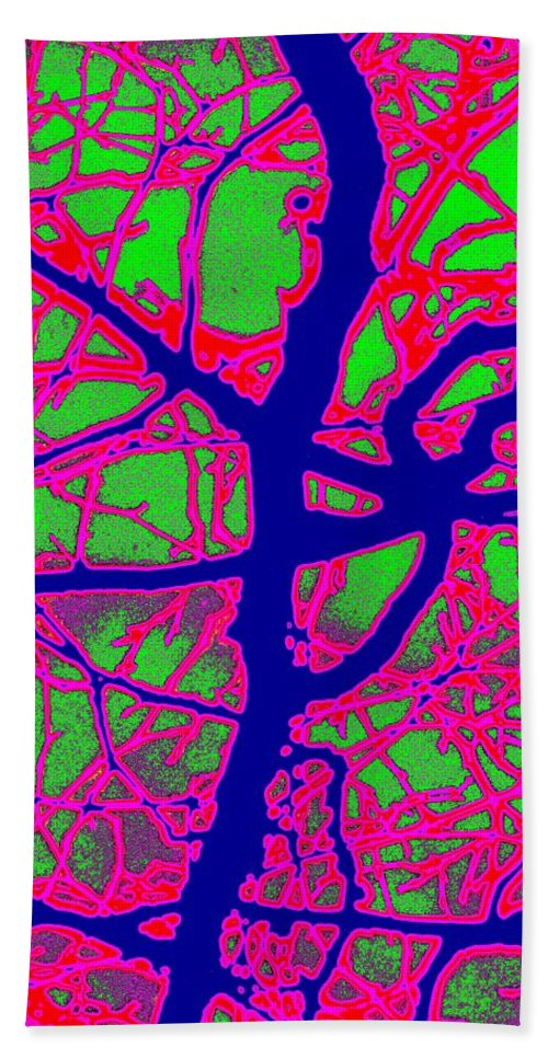 Abstract Beach Sheet featuring the digital art Arbor Mist 2 by Tim Allen