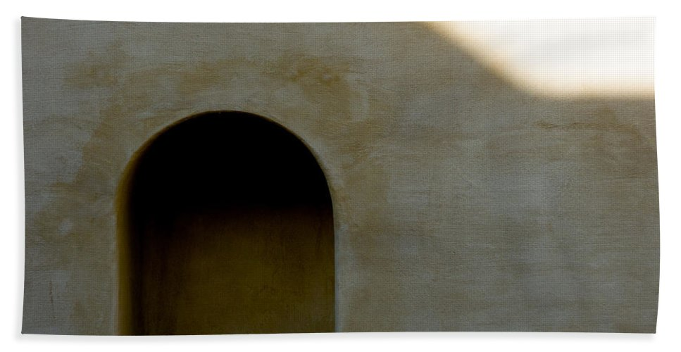 Shadow Beach Towel featuring the photograph Arch In Shadow by Dave Bowman