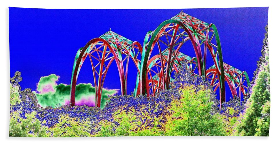 Seattle Beach Towel featuring the photograph Arches 6 by Tim Allen
