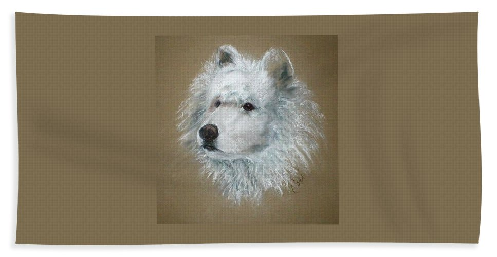 Pastel Beach Towel featuring the drawing Arctic Majestry by Cori Solomon