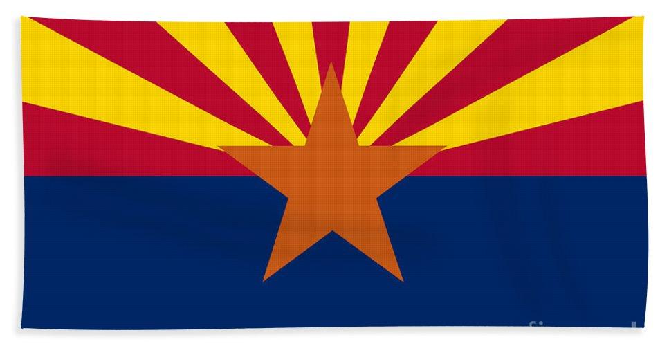 Arizona Flag Beach Towel featuring the digital art Arizona Flag Art by Anne Kitzman