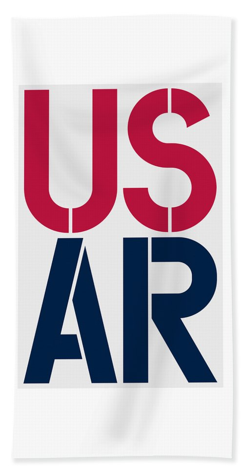 United States Of America Beach Towel featuring the painting Arkansas by Three Dots