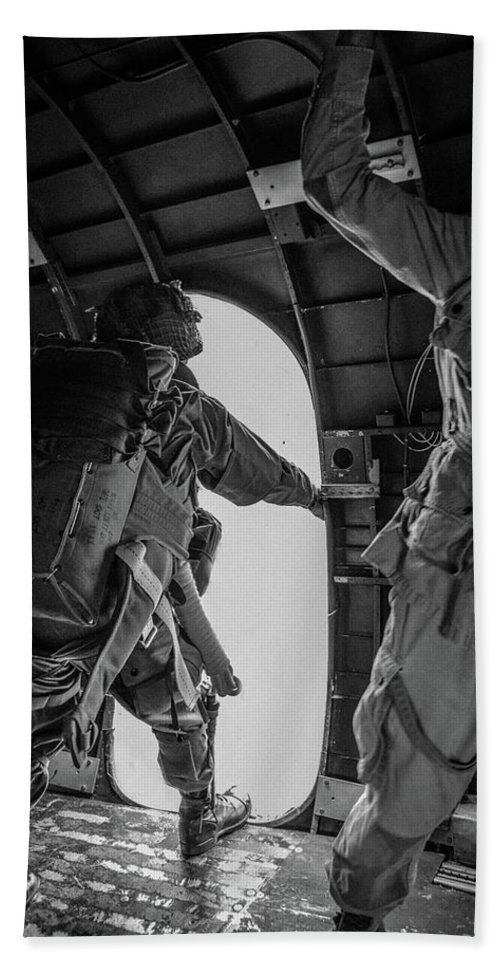 Us Army Airborne Beach Towel featuring the photograph Army Airborne Series 3 by Tommy Anderson