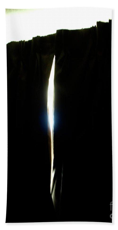 Spirit Form. Arrowl Light Through Drapery Beach Towel featuring the photograph Arrow Light by Mary Kobet