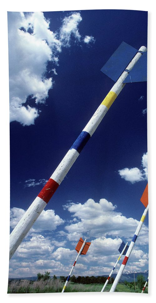 America West Beach Towel featuring the photograph Arrows by Steve Williams