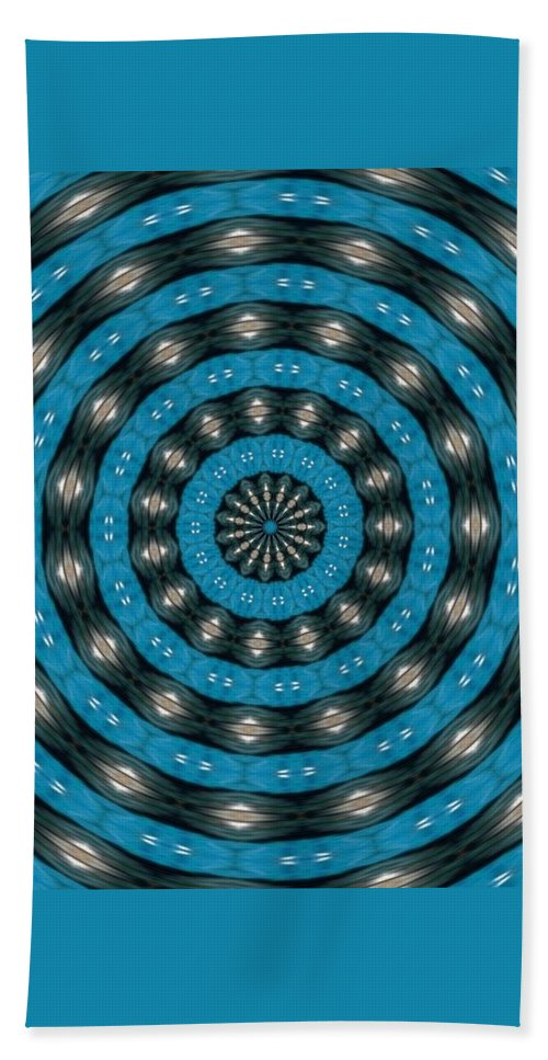Abstract Beach Towel featuring the digital art Art In Motion by Catherine Ortlieb
