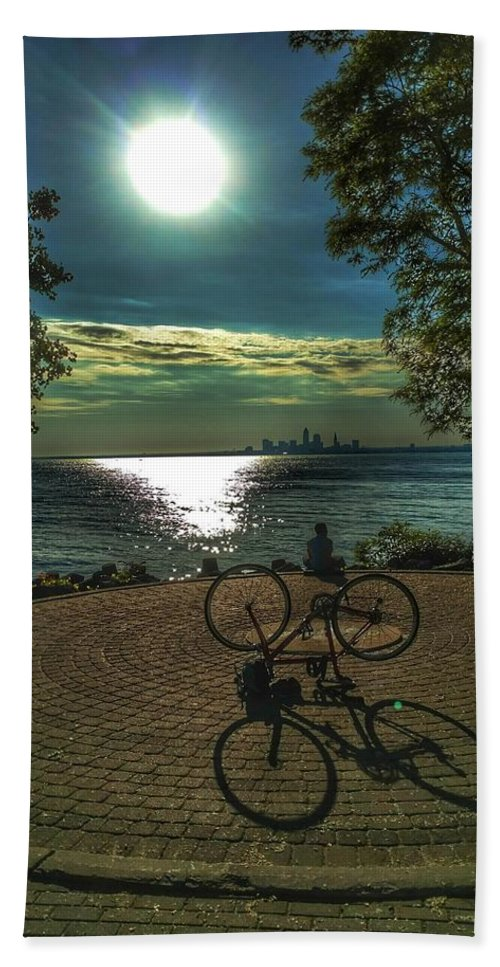 Bike Beach Towel featuring the photograph Art Of The Morning Sun by Jeff Paul