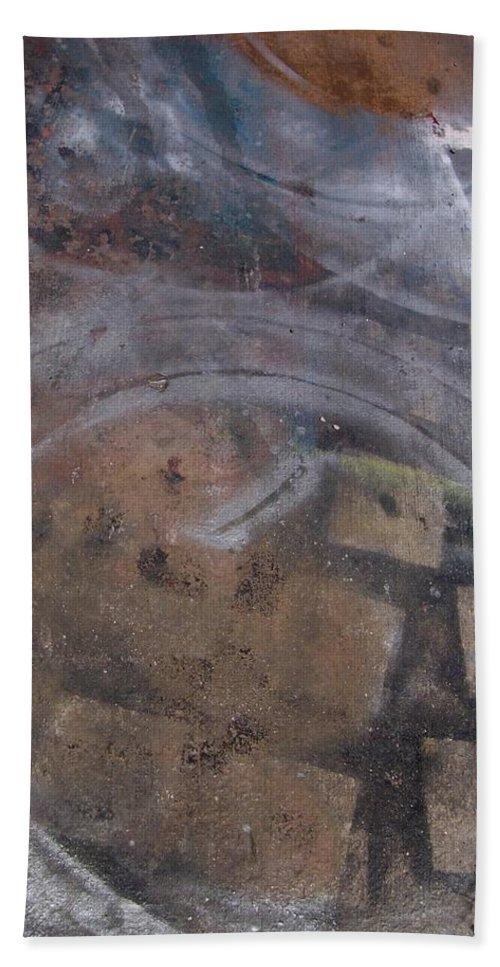 Artist Beach Towel featuring the photograph Artist Sidewalk 1 by Anita Burgermeister