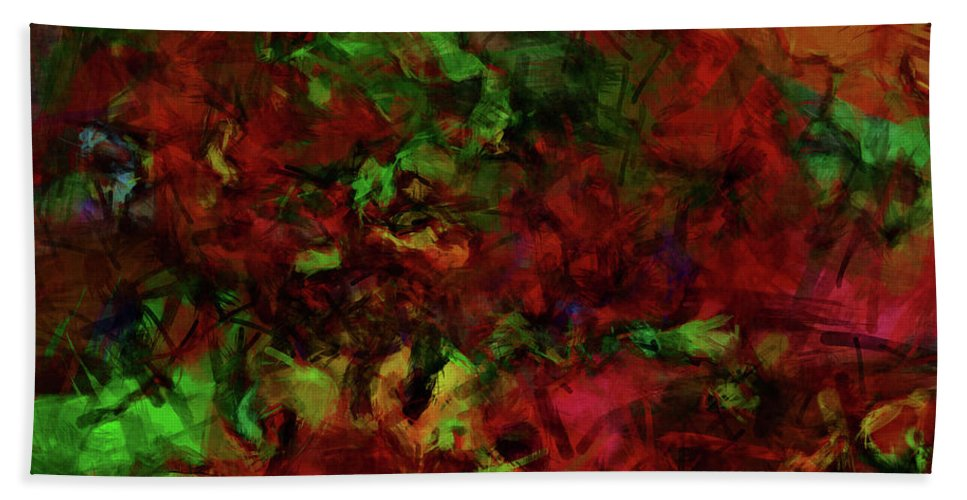 Foliage Beach Towel featuring the digital art Artists Foliage by Diane Parnell