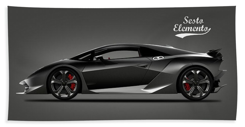 Lamborghini Sesto Elemento Beach Towel For Sale By Mark Rogan