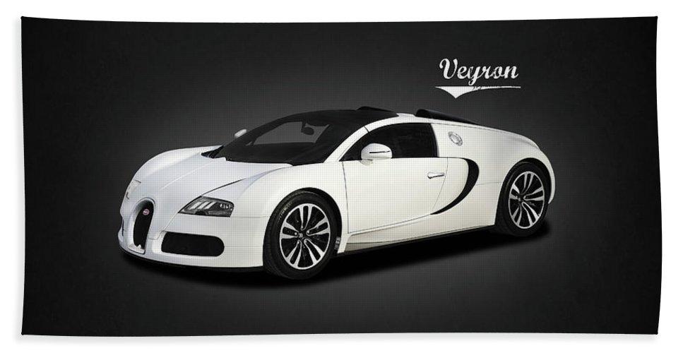 Bugatti Veyron Beach Towel featuring the photograph Bugatti Veyron by Mark Rogan
