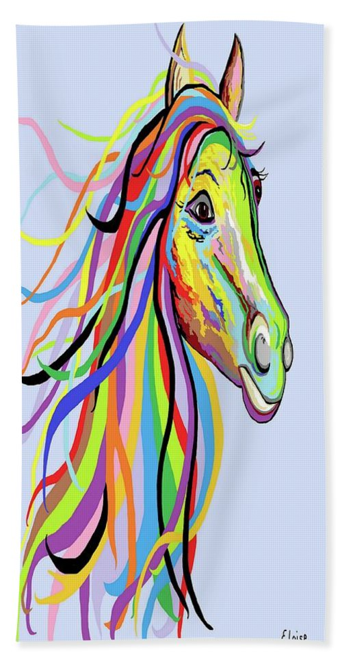 Horse Beach Sheet Featuring The Painting Of A Different Color By Eloise Schneider Mote