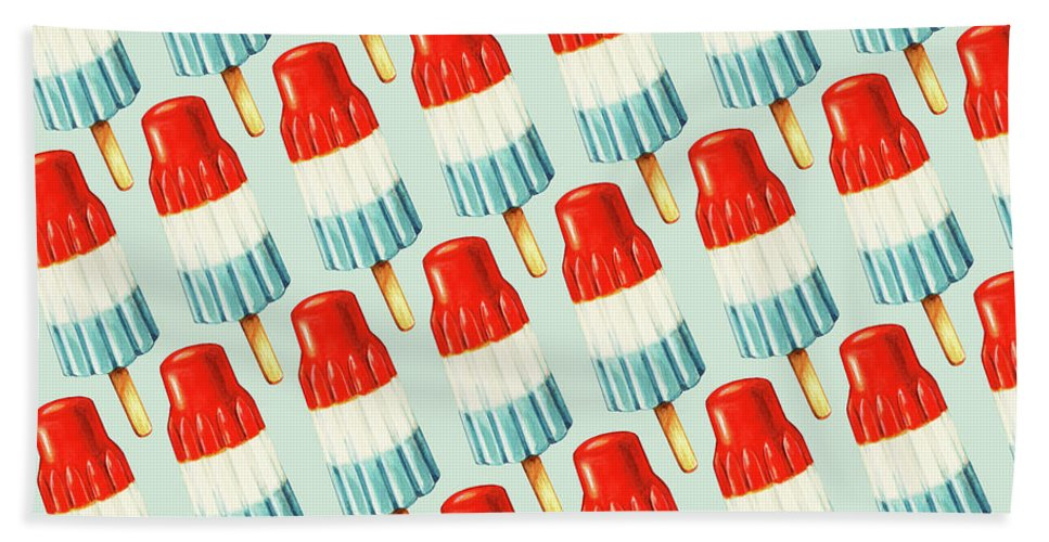 Bomb Pop Pattern Beach Towel