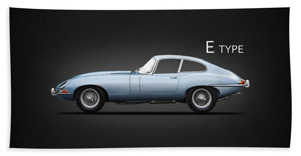 Jaguar E Type Coupe Beach Towel featuring the photograph The E Type by Mark Rogan