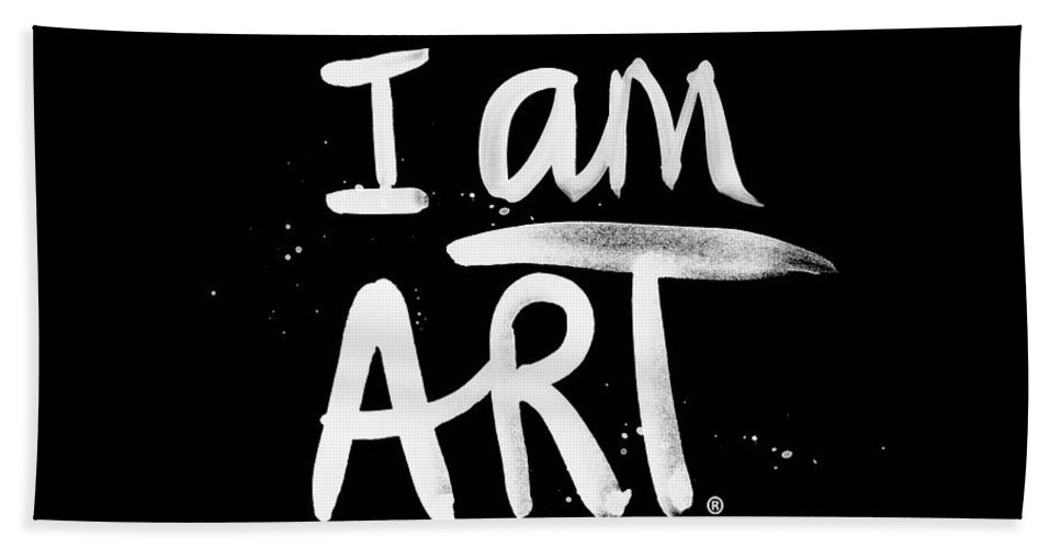 I Am Art Beach Towel featuring the mixed media I Am Art- Painted by Linda Woods
