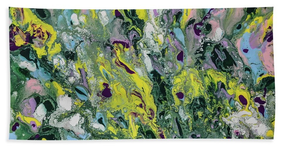 The Feeling Of Spring Beach Towel featuring the painting The Feeling Of Spring by Olga Hamilton