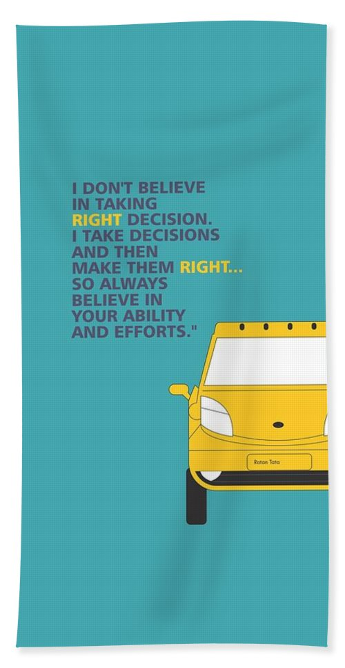 I Dont Believe In Taking Right Decision Quotes Poster Beach Towel