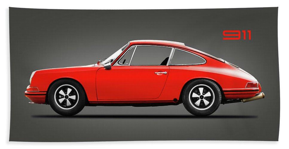 Porsche 911 Beach Towel featuring the photograph The 1965 Porsche 911 by Mark Rogan