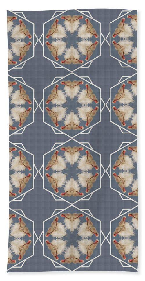 Kaleidoscope Beach Towel featuring the photograph White Ibis Snowflake by Rhoda Gerig