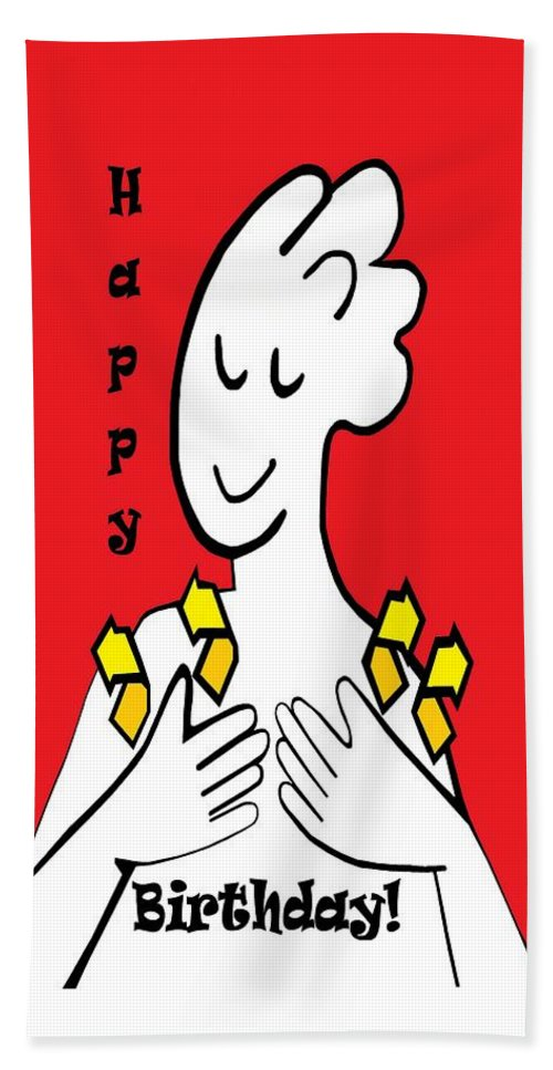 American Sign Language Happy Birthday Beach Towel For Sale By Eloise