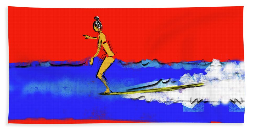 Beach Towel featuring the drawing Graceful by Robert Tema