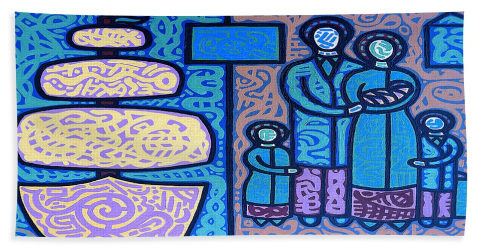 Ireland Beach Towel featuring the painting The Irish Famine by Patrick J Murphy