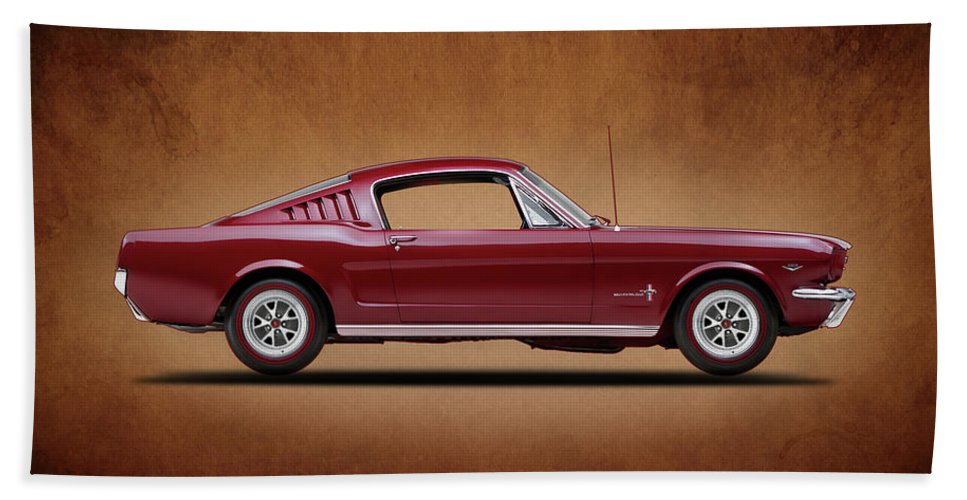 Ford Mustang Fastback 1965 Beach Towel featuring the photograph Ford Mustang Fastback 1965 by Mark Rogan