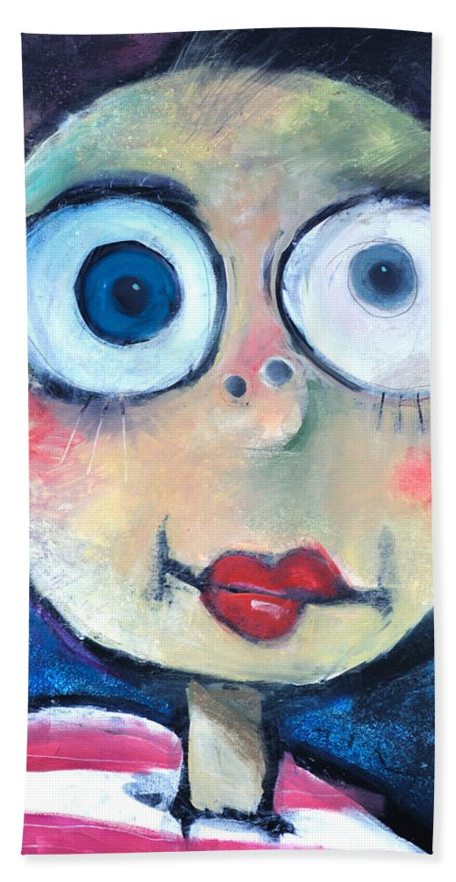 Child Beach Towel featuring the painting As A Child by Tim Nyberg