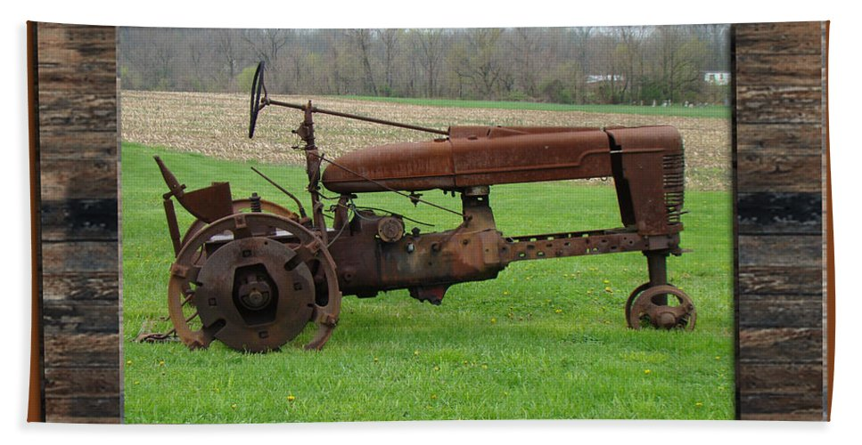 Tractor Beach Towel featuring the photograph Ashes To Ashes - Rust To Rust by Mother Nature