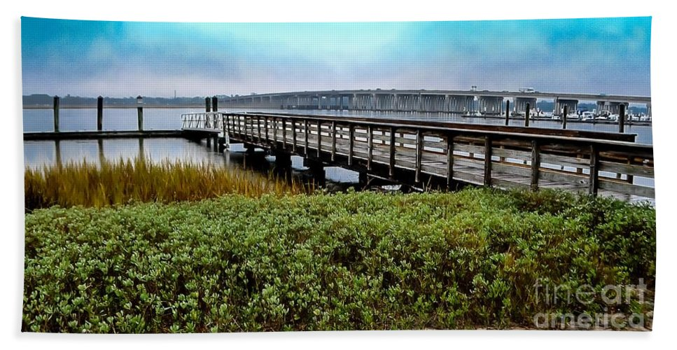 Ashley Beach Towel featuring the photograph Ashley River Sc by Yvette Wilson