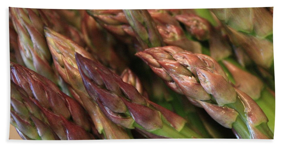 Asparagus Beach Sheet featuring the photograph Asparagus Tips by Carol Groenen