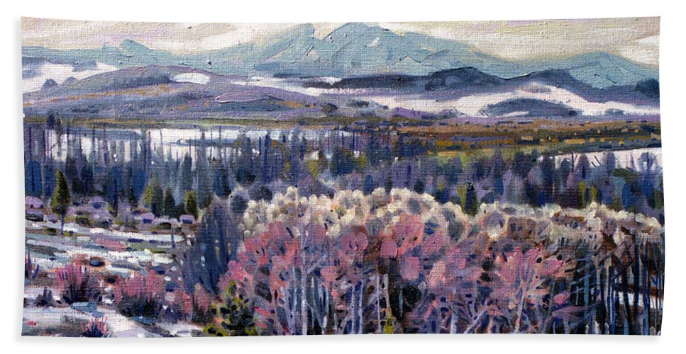 Aspen Beach Sheet featuring the painting Aspen In April by Donald Maier