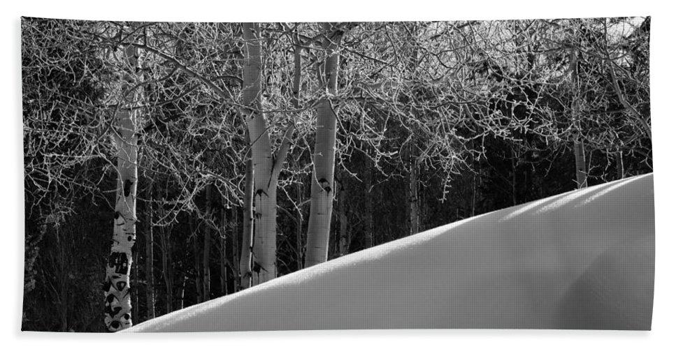 Colorado Beach Sheet featuring the photograph Aspencade by Skip Hunt