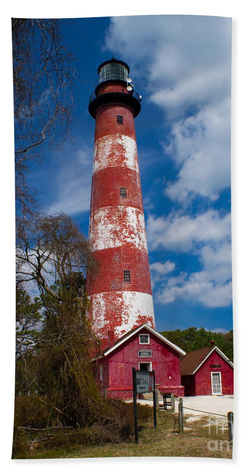 Architecture Beach Towel featuring the photograph Assateague Lighthouse by Nick Zelinsky