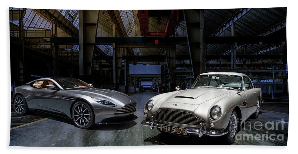 Aston Martin Db5 Db11 Beach Sheet For Sale By Roger Lighterness