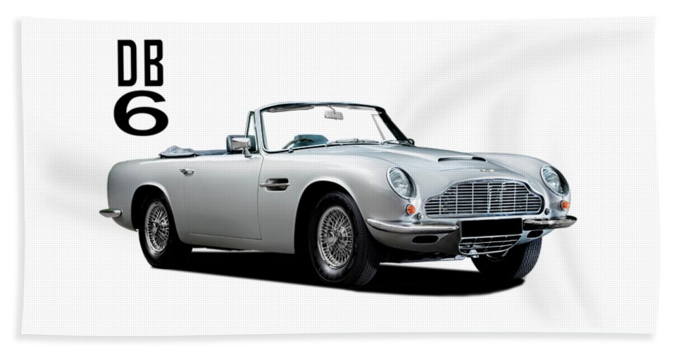Aston Martin Beach Towel featuring the photograph Aston Martin Db6 by Mark Rogan