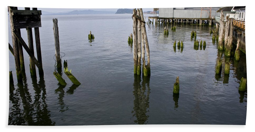 Scenic Beach Towel featuring the photograph Astoria Waterfront by Lee Santa