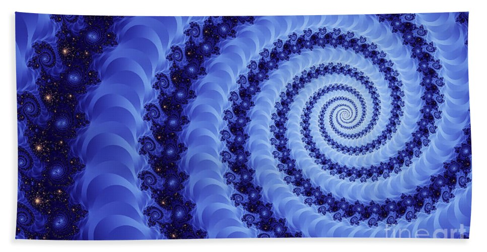 Clay Beach Sheet featuring the digital art Astral Vortex by Clayton Bruster