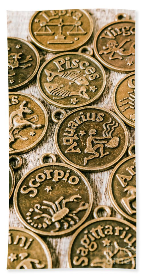 Star Signs Beach Towel featuring the photograph Astrology Charms by Jorgo Photography - Wall Art Gallery