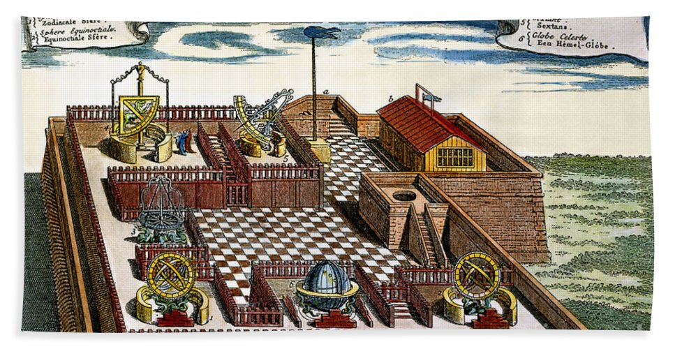 1698 Beach Towel featuring the photograph Astronomical Observatory by Granger