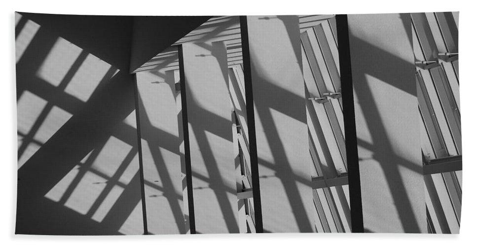 Shades Beach Towel featuring the photograph Asylum Windows by Rob Hans
