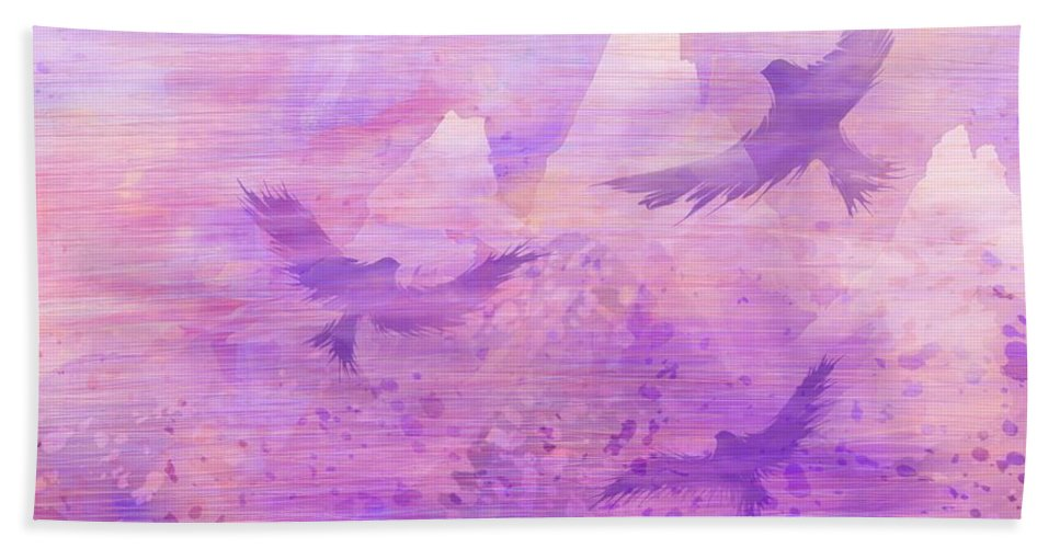 Abstract Beach Towel featuring the digital art At The Doorsteps Of God by Rachel Christine Nowicki