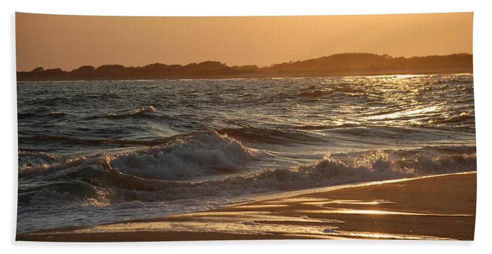 Cape May Beach Towel featuring the photograph At The Golden Hour by Richard Bryce and Family