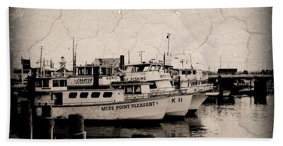 Jersey Shore Beach Towel featuring the photograph At The Marina - Jersey Shore by Angie Tirado