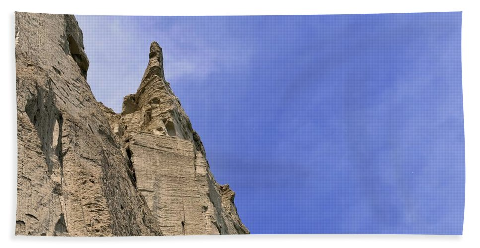 Cliff Beach Towel featuring the photograph At The Scarborough Bluffs by Lyle Crump