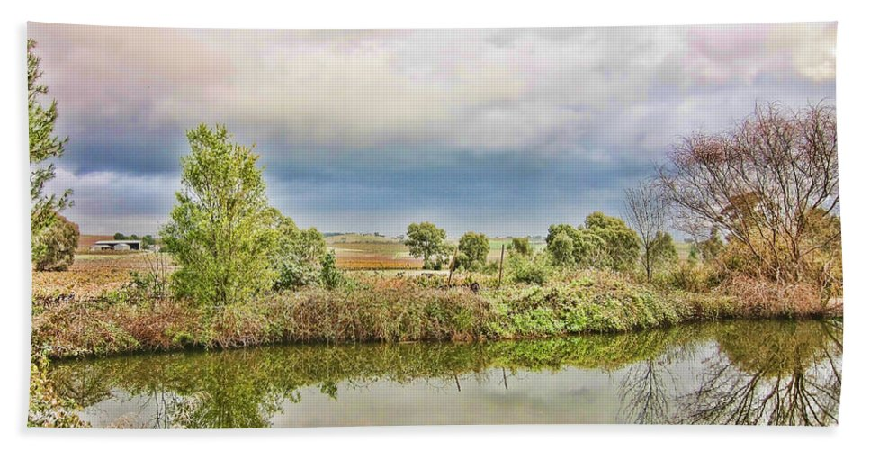 River Beach Towel featuring the photograph At The Waters Edge by Douglas Barnard