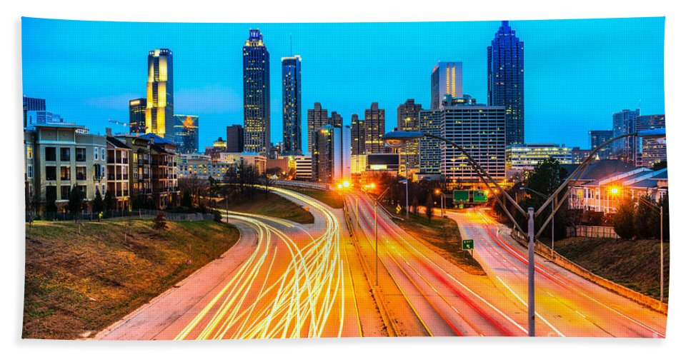 Atlanta Beach Towel featuring the photograph Atlanta - Usa by Luciano Mortula