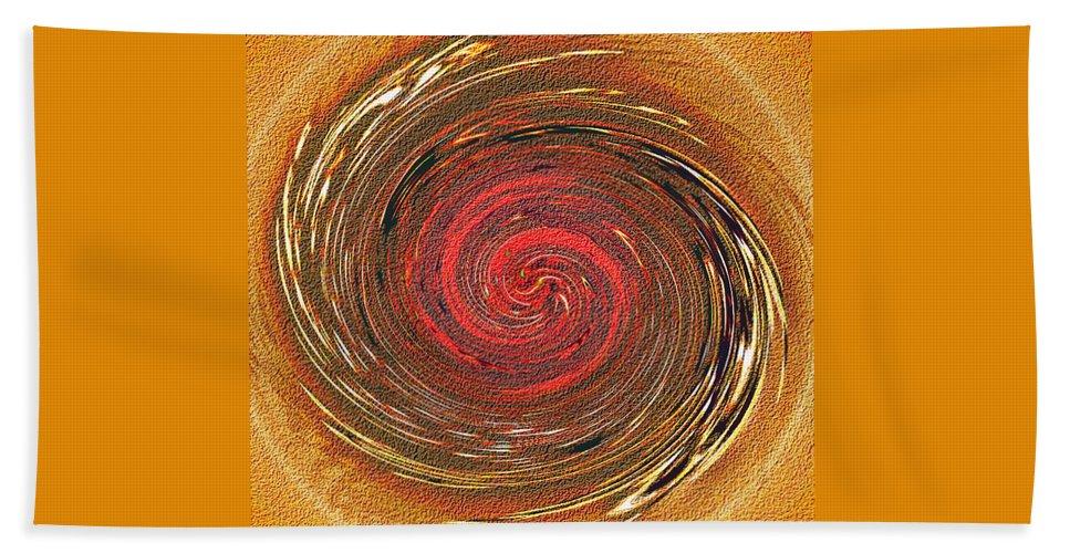 Abstract Beach Sheet featuring the digital art Atlantean Fire by Don Quackenbush