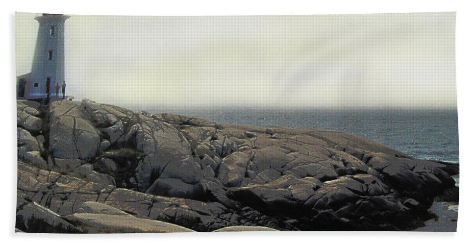 Lighthouse Beach Towel featuring the photograph Atlantic Lighthouse by Ian MacDonald